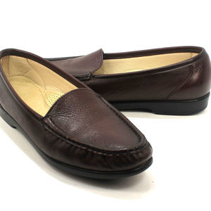 SAS Simplify Burgundy Slip on Loafers
